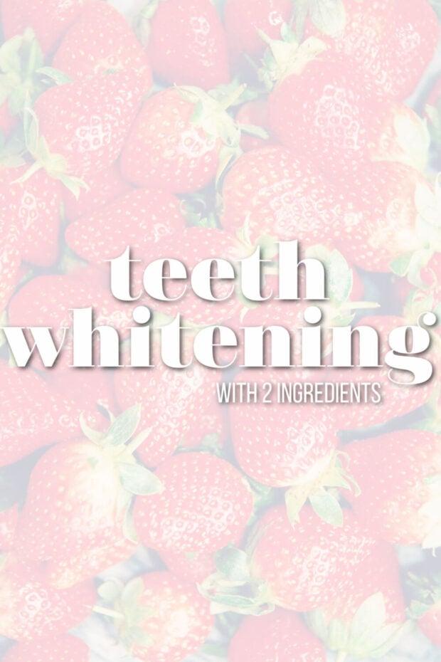 teeth whitening with strawberries