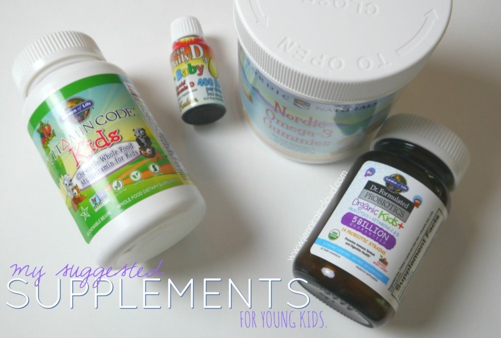 My suggested supplements for young children….