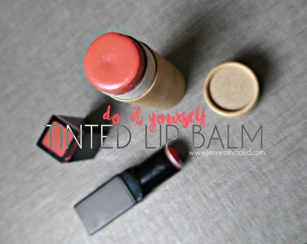 Make your own tinted lip balm!