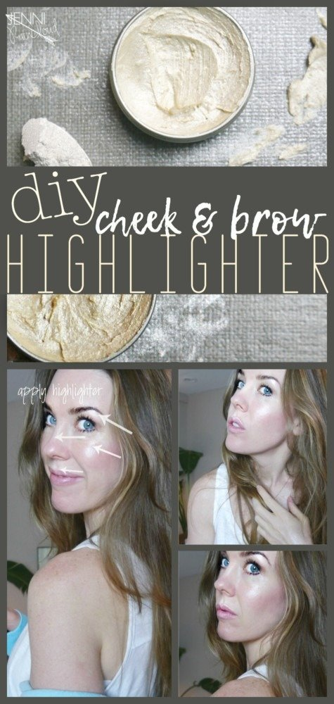 DIY Highlighter for brows and cheeks