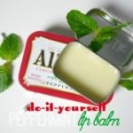 Homemade Peppermint Lip Balm!