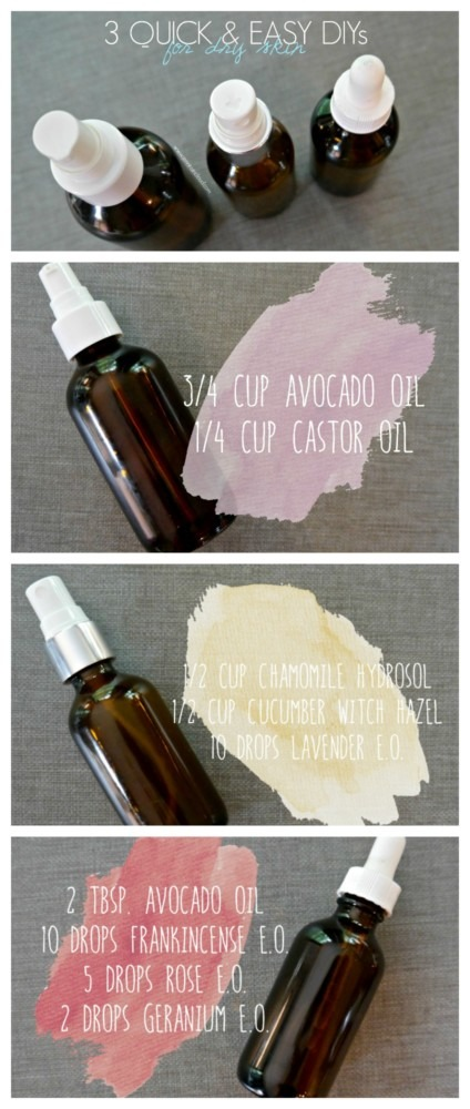 3 DIYs for Dry Skin