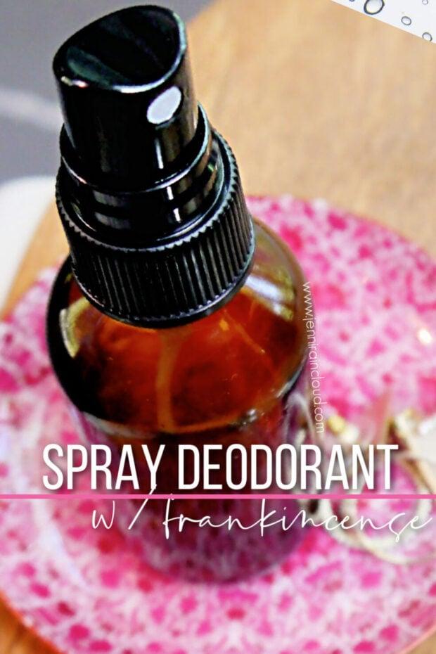 DIY Spray Deodorant with Frankincense