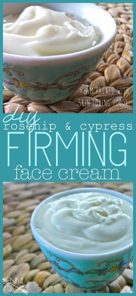 Rosehip Cypress Firming Face Cream DIY