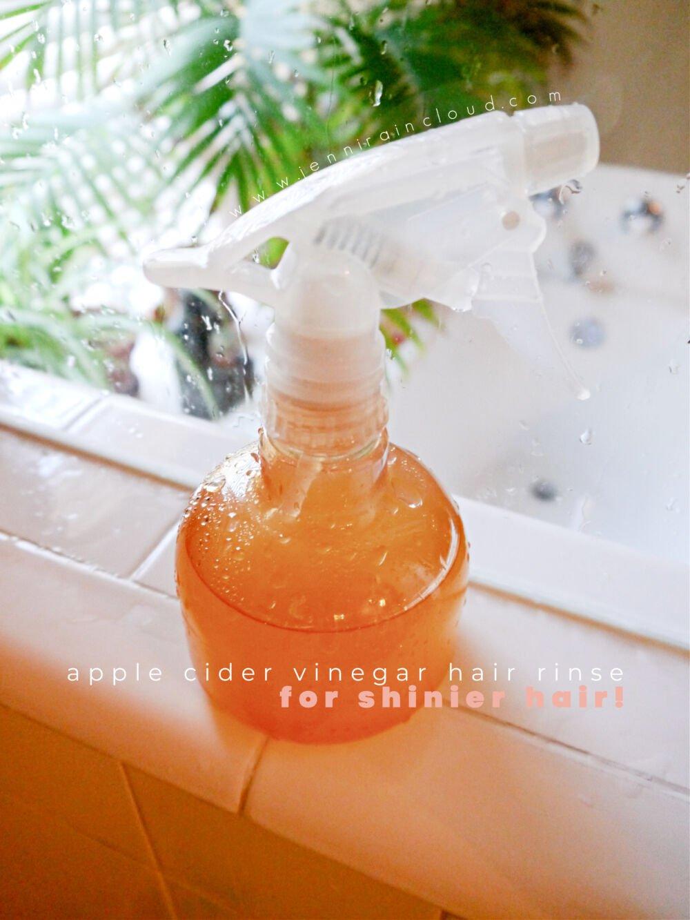 Apple Cider Vinegar Hair Rinse for Shiny Hair