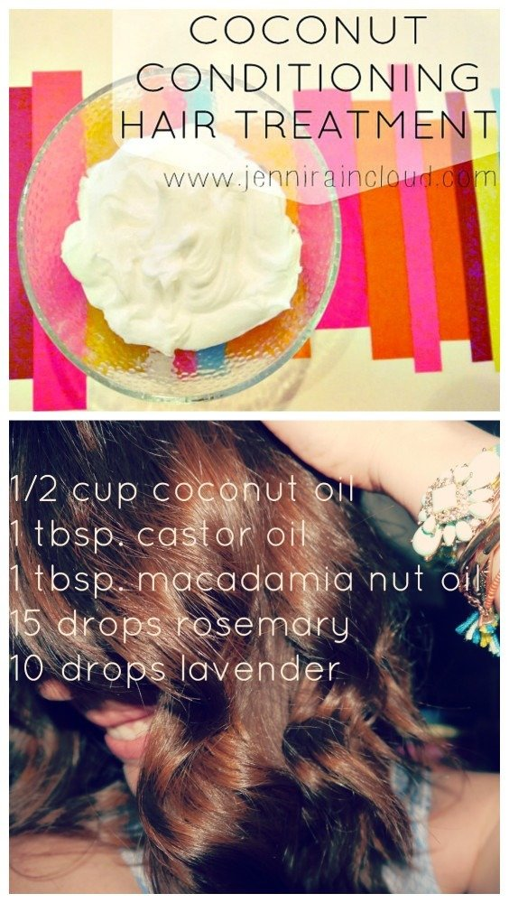 DIY coconut Hair conditioner