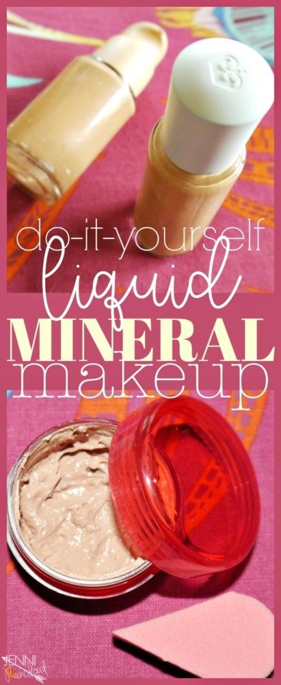 DIY liquid mineral makeup