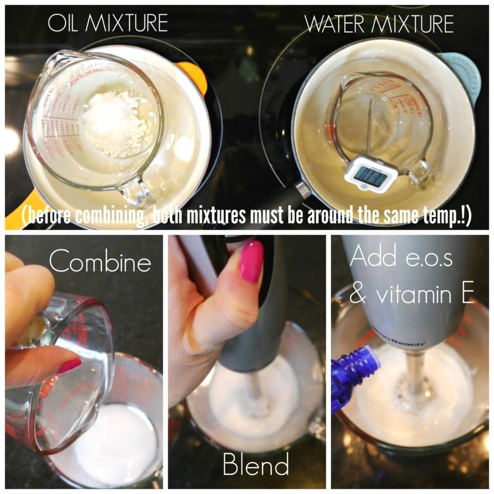 lotion making Collage