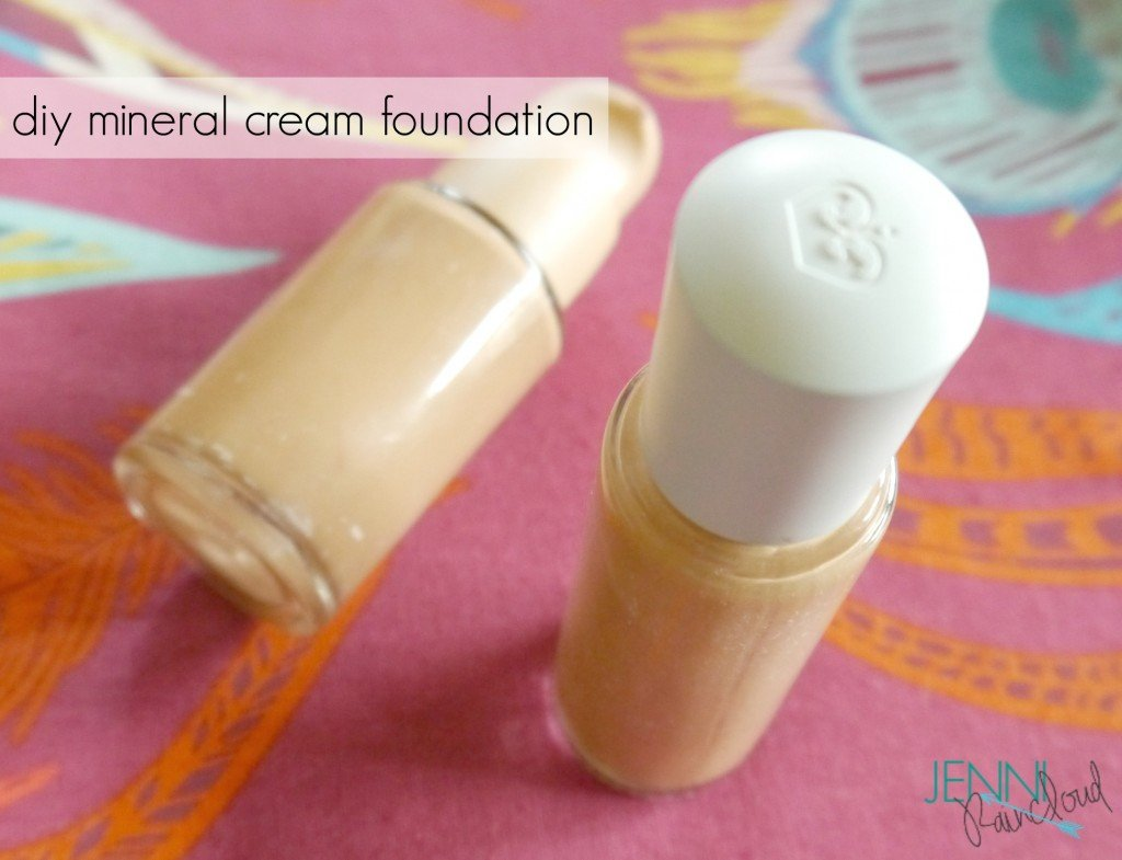 DIY mineral cream make up