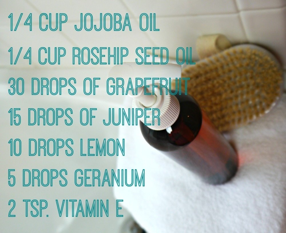 DIY anti cellulite body oil