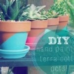 Easy Hand Painted Terracotta Pots!