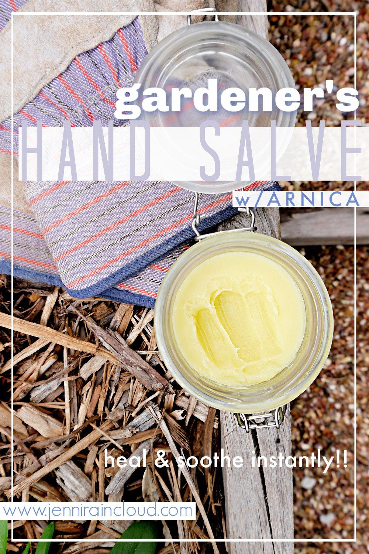 DIY Gardener's Hand Salve with Arnica