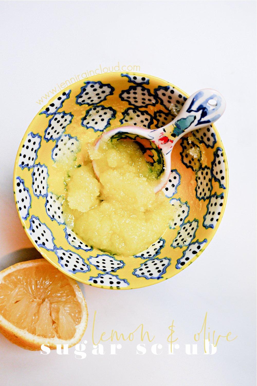 DIY Sugar Scrub with Lemon & Olive Oil