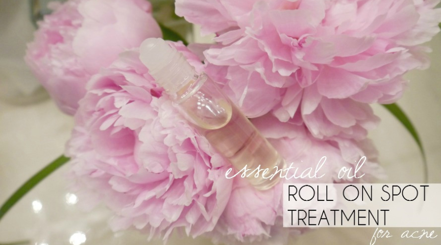 DIY Essential Oil Roll On Spot Treatment