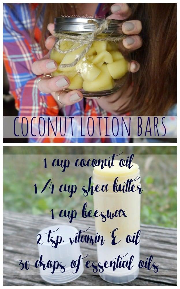 DIY Coconut Lotion Bars
