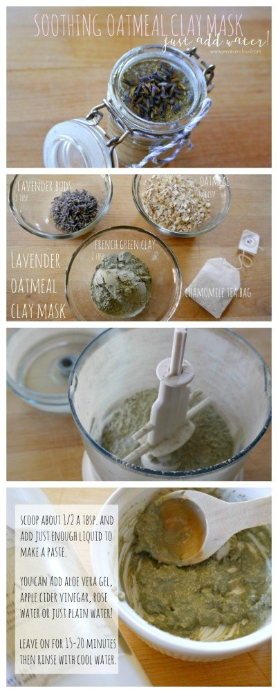 Oatmeal Lavender Clay DIY Mask