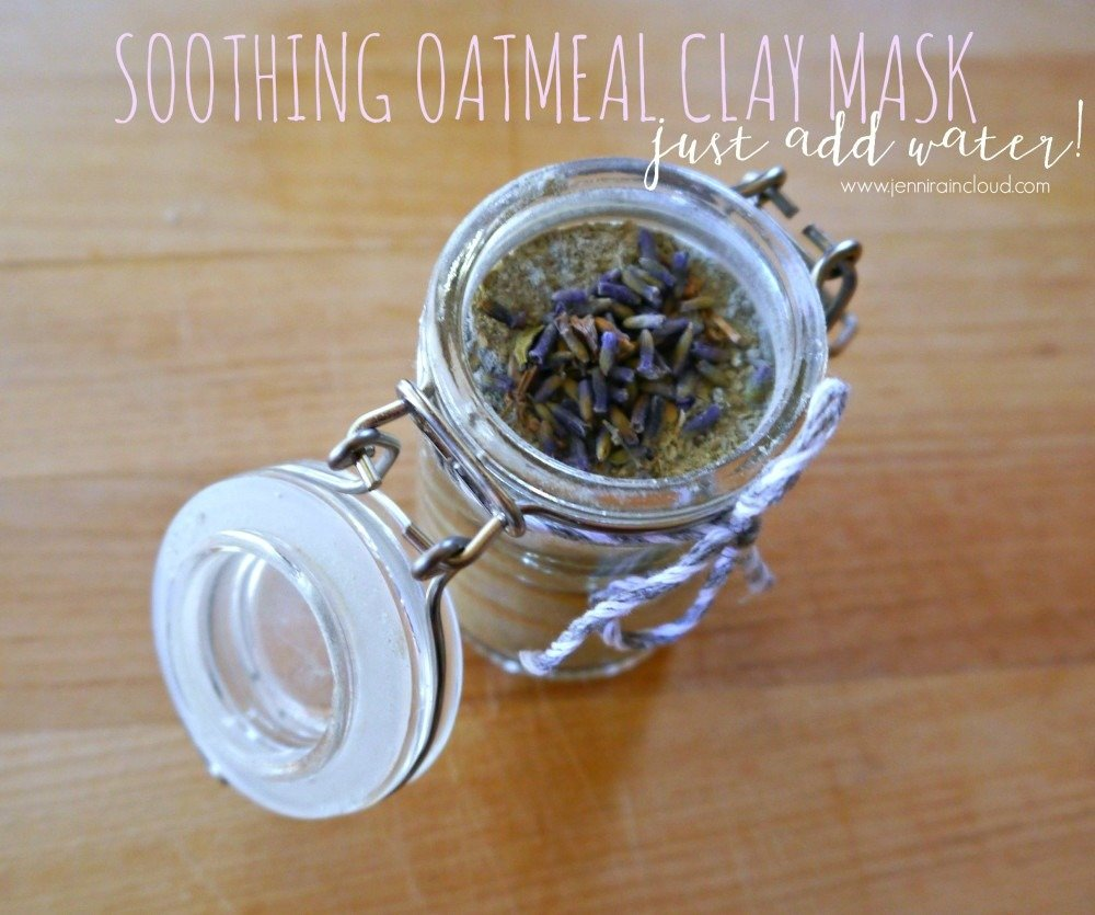 DIY DRY Oatmeal, Lavender, and Clay Mask…