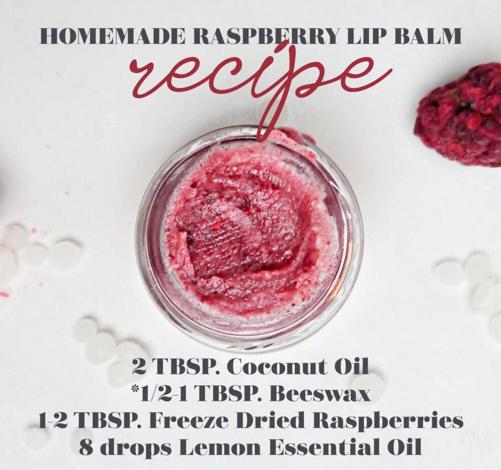 Homemade Raspberry Lip Balm Recipe