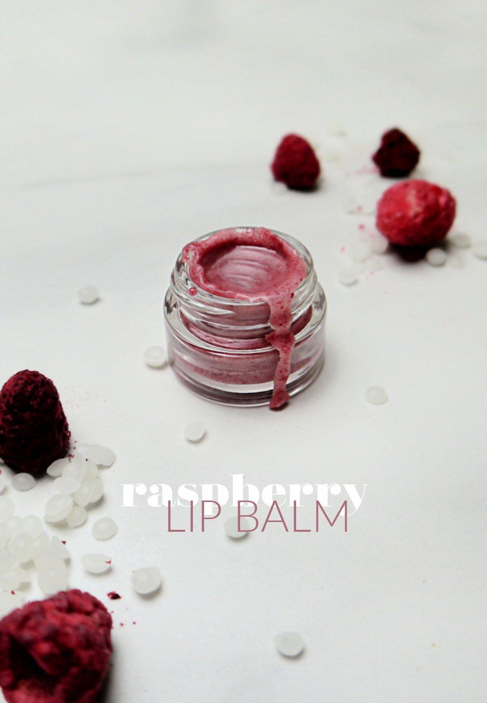 Homemade Raspberry Lip Balm