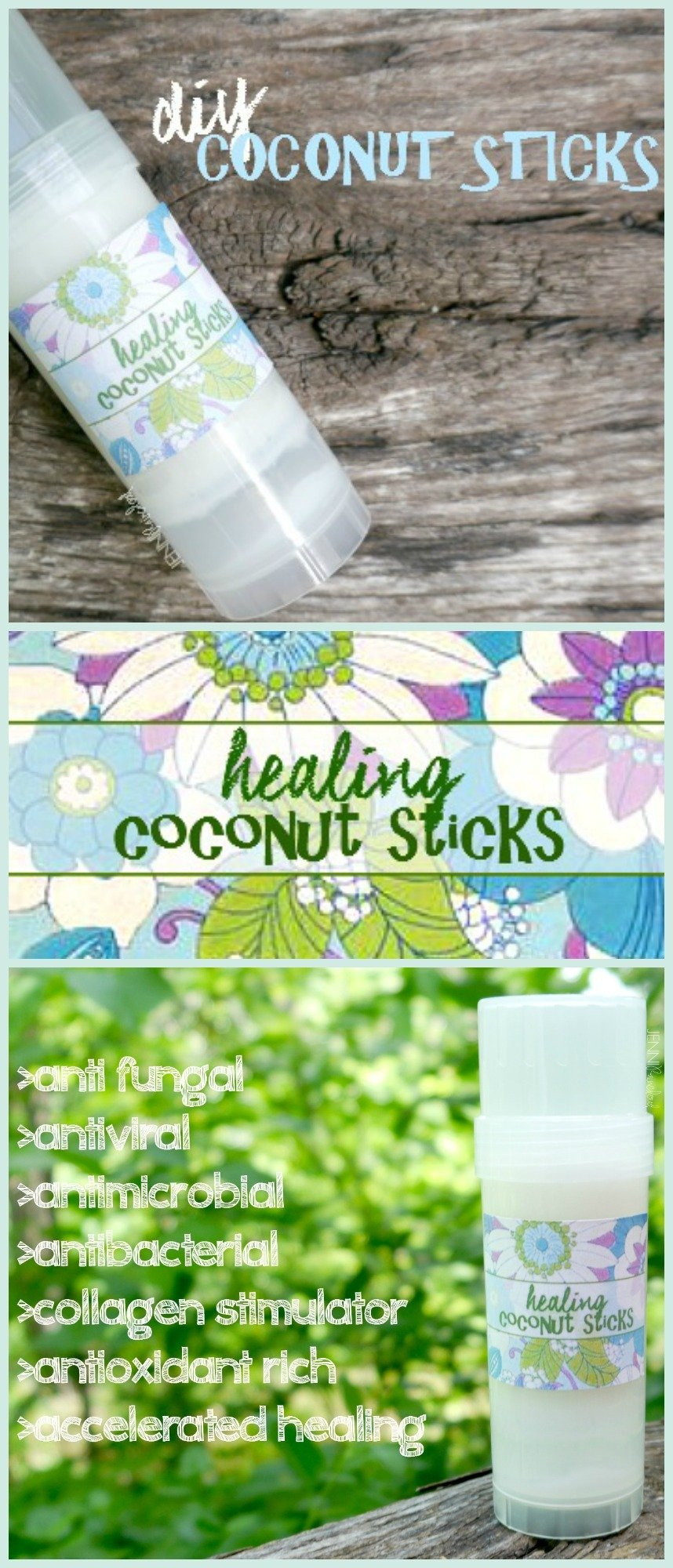 DIY Healing Coconut Oil Sticks