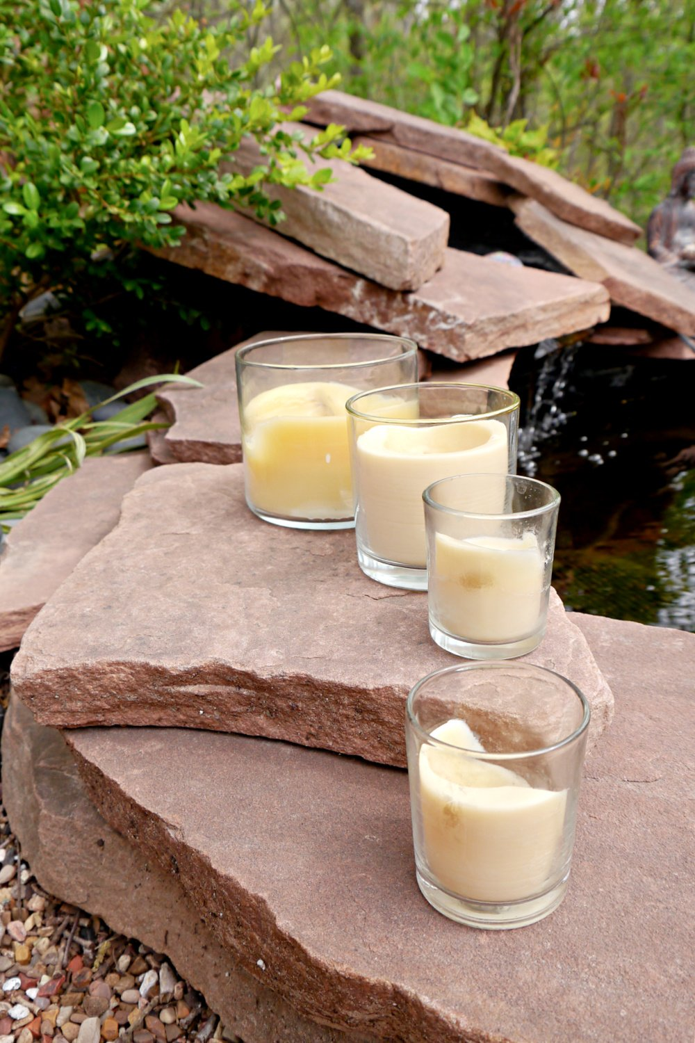 Homemade Citronella Candles with Beeswax