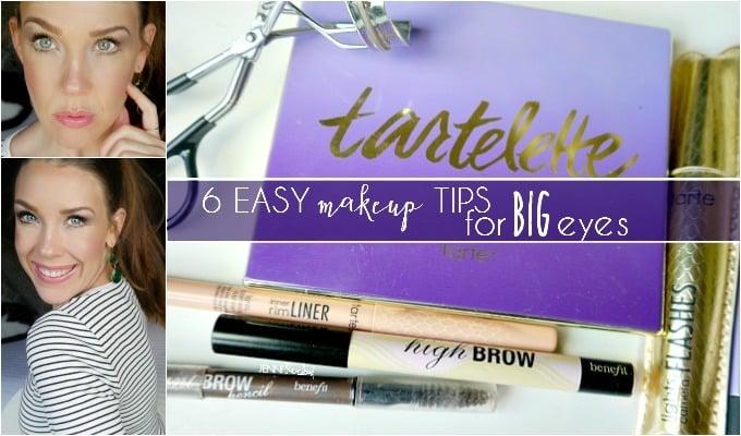 Makeup tips for big eyes