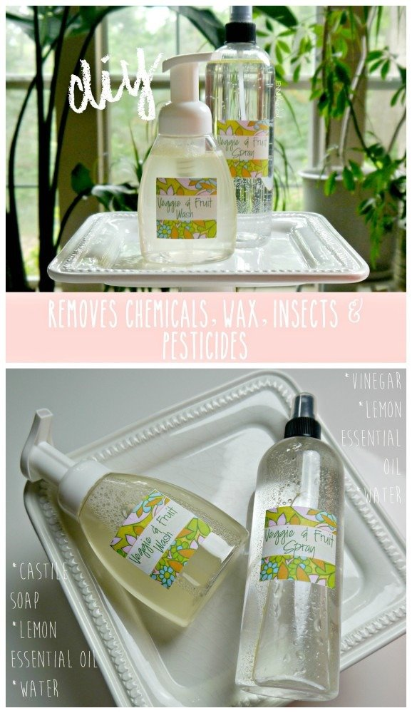 DIY Veggie and Fruit Spray and Wash