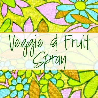 Veggie and Fruit Spray & Wash Labels