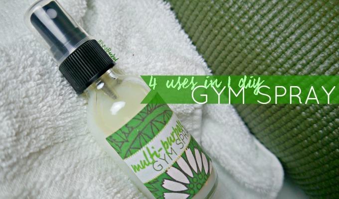 DIY Antibacterial Gym Spray