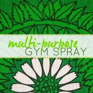 DIY gym spray label