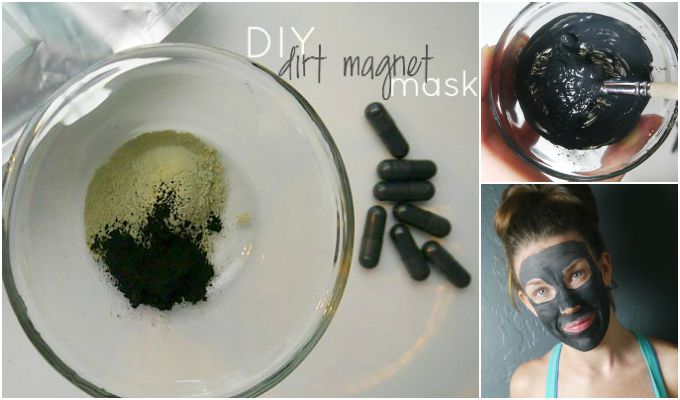 diy activated charcoal and clay detox mask. Black Bedroom Furniture Sets. Home Design Ideas