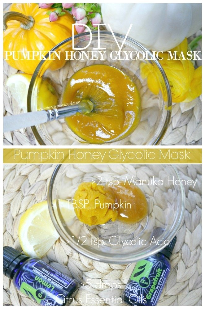 DIY Pumpkin Glycolic Manuka Honey Mask
