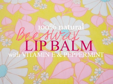 DIY Burt's Bees Lip Balm Imitation
