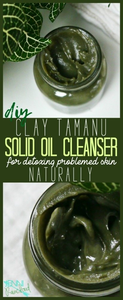 DIY Clay Tamanu Oil Cleanser