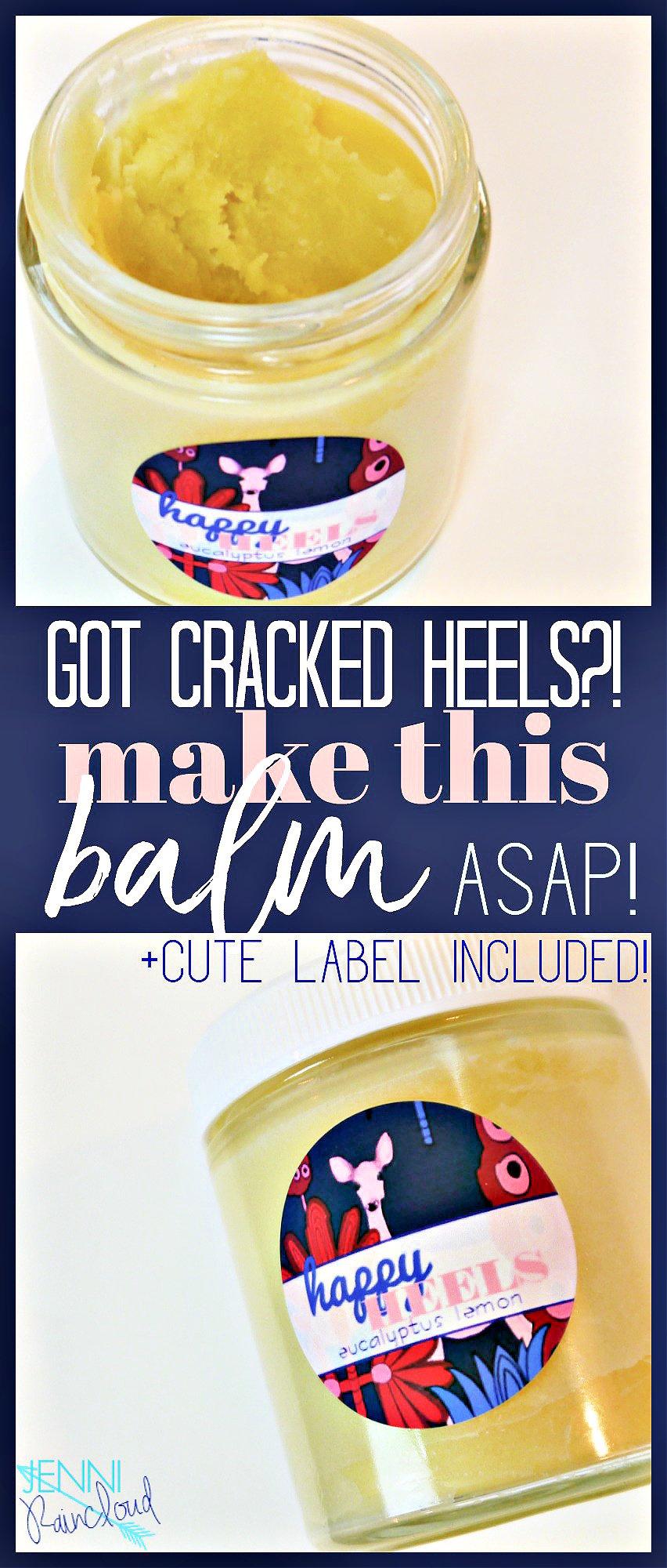 DIY Cracked Heel Balm Pinterest