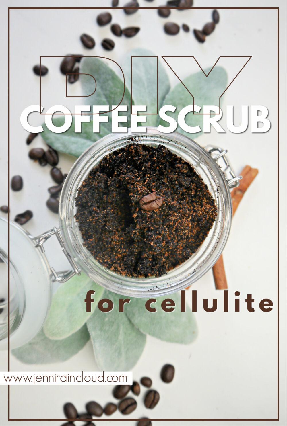 DIY coffee Scrub for cellulite