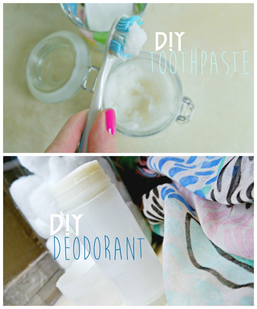 DIY toothpaste and deodorant
