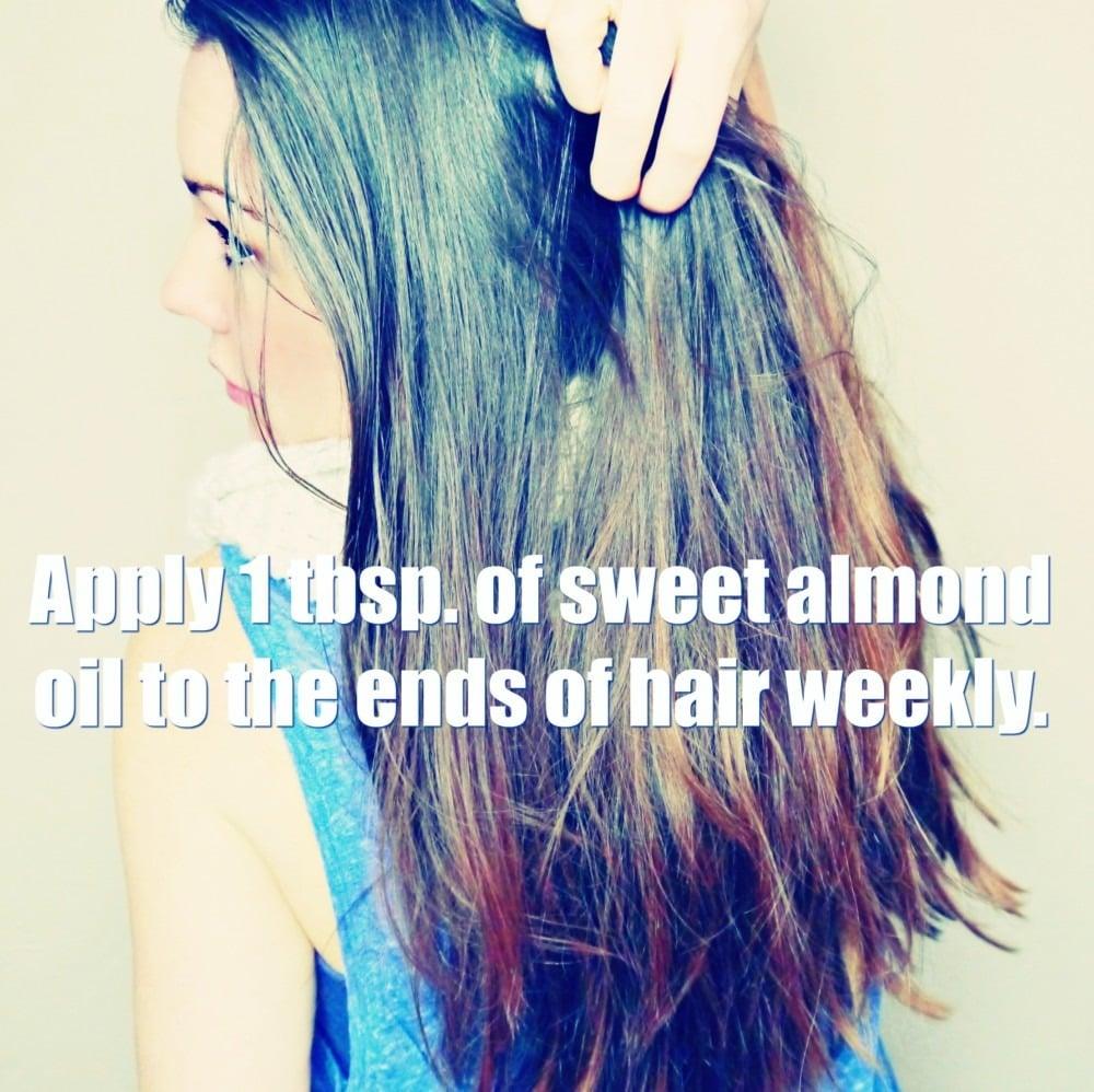 sweet almond oil hot oil hair treatment