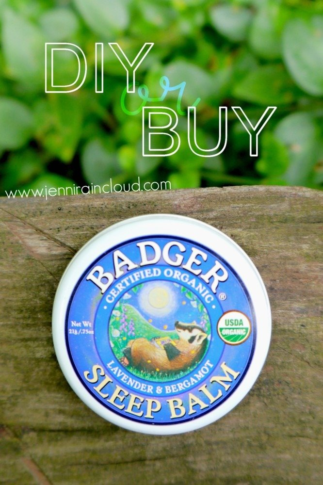 DIY or BUY: Badger Sleep Balm