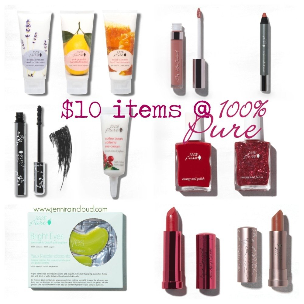 20 Items Priced at $10 at 100% Pure!