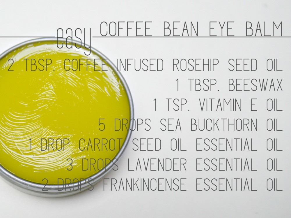 DIY Coffee Bean Eye Balm