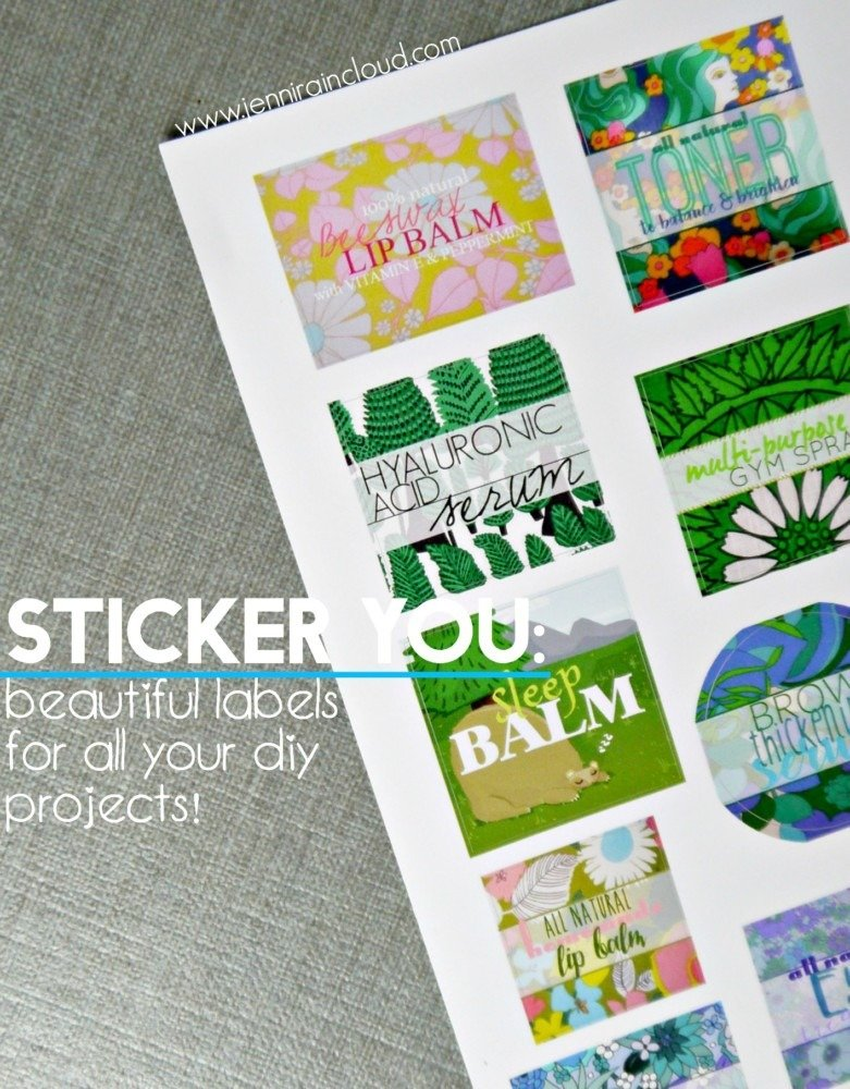 Sticker You-Vibrant Labels For All Your DIY Products!