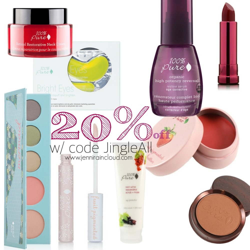 100% Pure 20% Off Just In Time for Christmas Shopping!