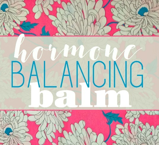 Hormone Balancing Balm DIY