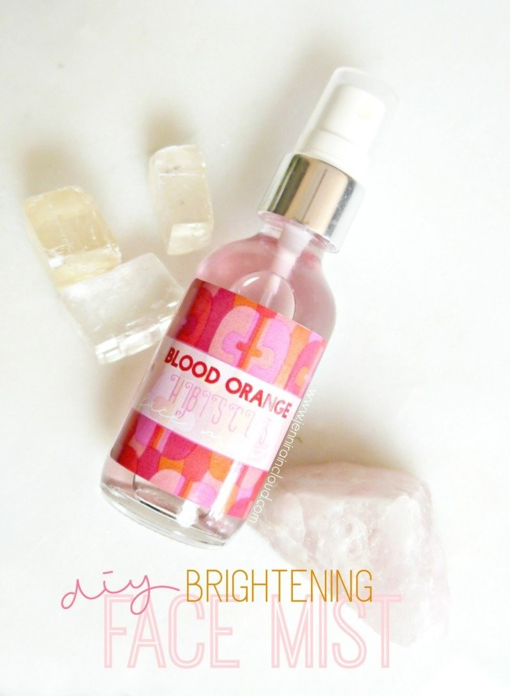 DIY Blood Orange Hibiscus Face Mist