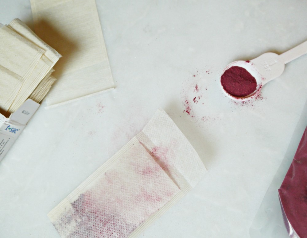 DIY Facial Toner with hibiscus tea