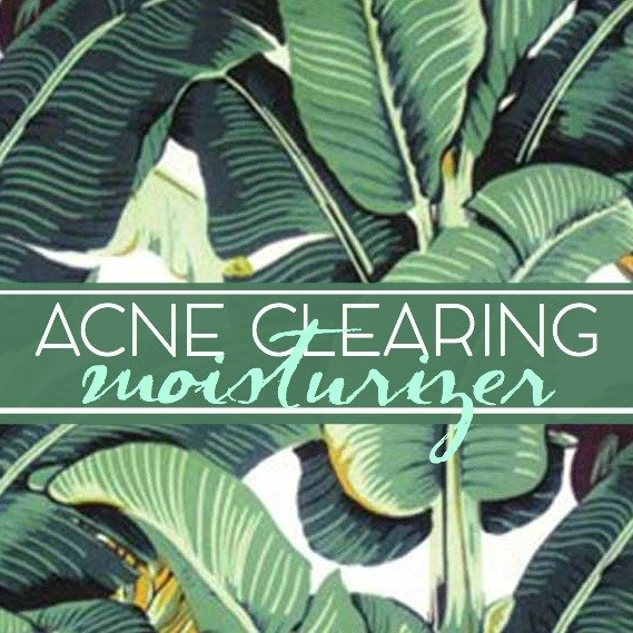 Acne Clearing Moisturizer Label
