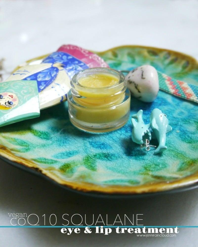 DIY coQ10 Squalane lip and eye balm