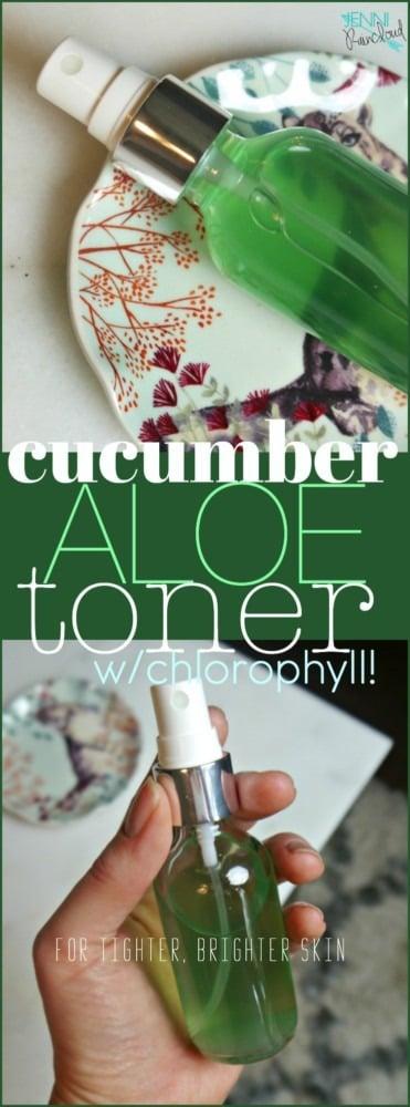 DIY Aloe Vera Cucumber Toner