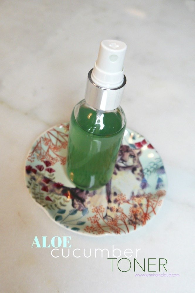 DIY Aloe Cucumber Toner with Chlorophyll!